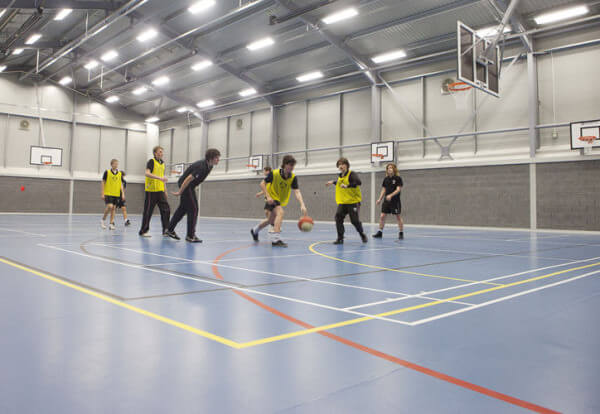School sports hall flooring